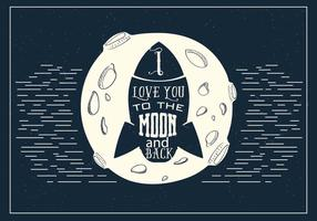 Gratis Love Rocket Vector