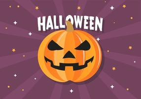 Gratis rolig Halloween pumpa vektor