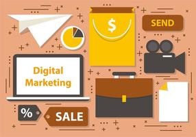 Gratis Digital Marketing Business Vector Ikoner