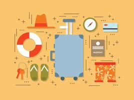 Flat Summer Travel Elements Vector