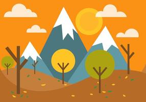 Vector libre paisaje de otoño