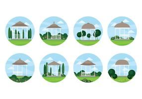 Gratis Wedding Gazebo Vector