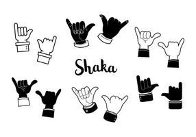 Free Black and White Shaka Vector