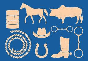 Barrel Racing Vector icons