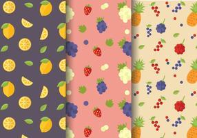 Vector de padrões de citrinos grátis