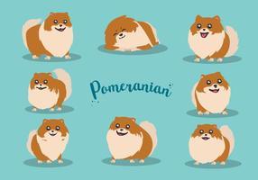 Desenho livre Pomeranian Vector