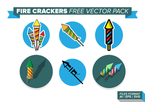 Pack de vecteur libre de crackers de feu