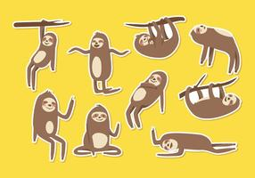 Gratis Sloth Cartoon Vector