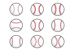 Baseball Laces Vector gratuito