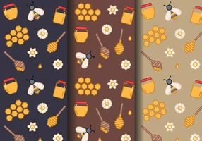 Gratis Honey Pattern Vector
