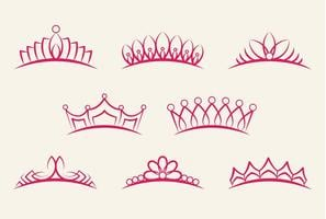 Crown Pageant Set vector