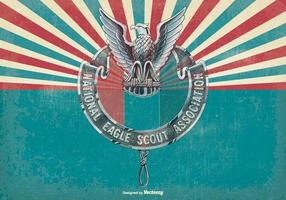 Illustration vintage Eagle Scout