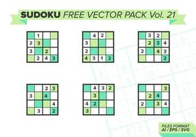 Sudoku Free Vector Pack Vol. 21