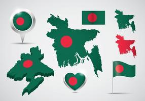 Ensemble vectoriel libre de Bangladesh