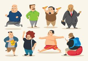 Gratis Fat Guy Vector