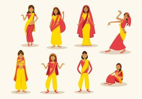 Gratis Indisk Kvinna Vektor