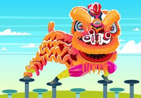 Lion Dance pose