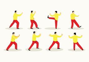 Free Tai Chi Poses Vector