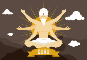 Guru Vector Illustratie