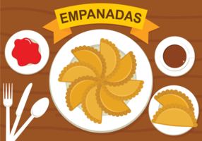 Illustration vectorielle Empanadas