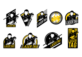 Laser Tag Vector Labels