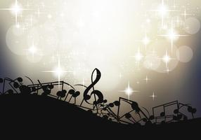 Note Of Music Background Template vector