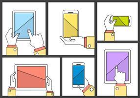 Elementos do vetor da mão da tecnologia