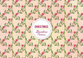 Vector Christmas Holly Pattern