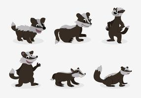 Funny honey badger pose character