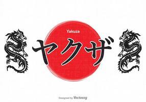 Design de caligrafia Yakuza de vetor livre