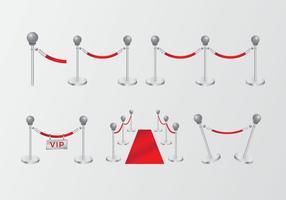 High class gradient red velvet rope vector