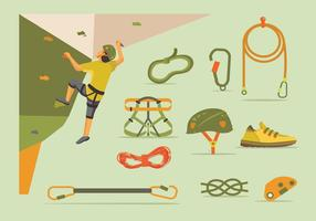 Wall climbing gear set