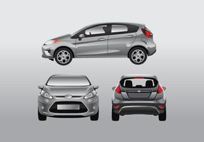 Ford fiesta car mock up gradient color