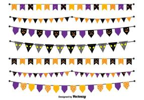 Halloween vector-pennants