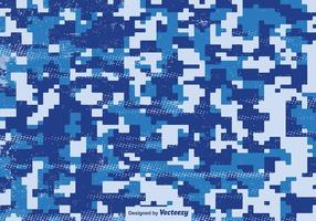 Multicam Pixelated Patrón Azul Vector Camuflaje