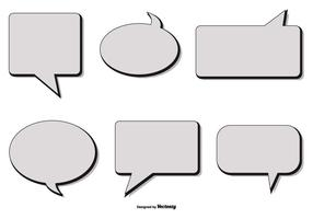 Retro Estilo Vector Speech Bubbles