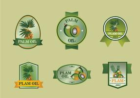 Palm olie label set