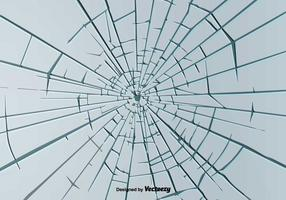 Broken Window Background Vector