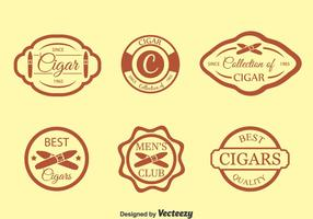 Sigarenlabel Vector Set