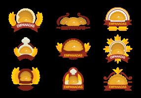 Empanadas Vector Emblemas
