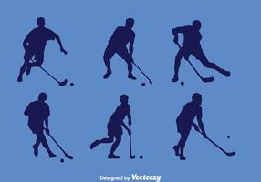 Vecteur floorball player silhouette
