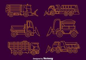 Snow Plow Collection Vector