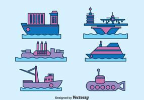 Water Transport Collectie Vector