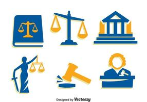 Justitie Element Pictogrammen Vector
