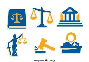 Iconos de elementos de Justicia Vector