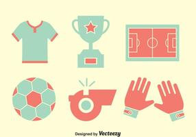 Nice Soccer Element Icons Vector