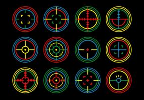 Etiqueta de láser Conjunto de vector de destino