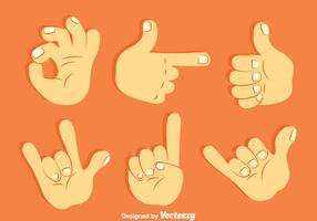Insieme di vettore della raccolta di gesto di mano