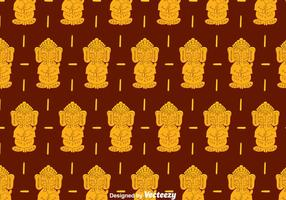 Ganesha Pattern Background