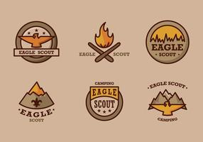 Eagle scout logotyp vintage vektor pack
